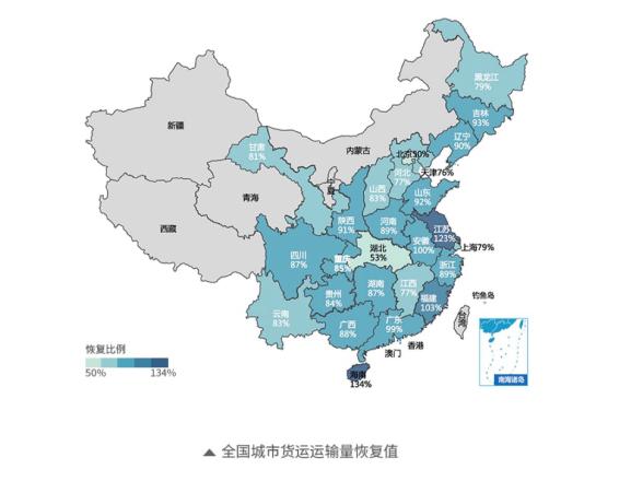 货拉拉大数据:武汉解封后恢复迅速 东莞口罩原料发货激增